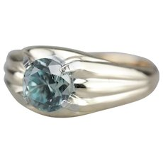 Men's Upcycled Blue Zircon Ring