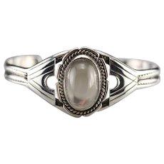 Upcycled Moonstone Cuff Bracelet