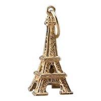 Vintage Eiffel Tower Charm Pendant