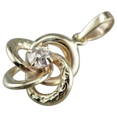 Vintage Diamond Lover's Knot Pendant