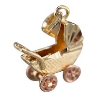 Vintage Baby Buggy Charm
