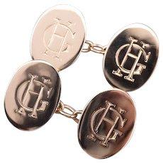 "Antique ""GH"" 9ct Monogram Cufflinks"