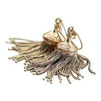 Stunning 14 Karat Gold Tassel Drop Earrings