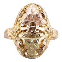 Botanical Black Hills 10 Karat Gold Ring
