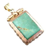 Antique Victorian Fob Locket with Turquoise and Sardonyx