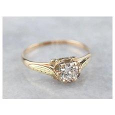 Transition Cut Diamond Engagement Ring