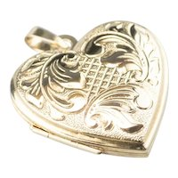 Vintage 14K Heart Locket Pendant