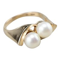 Double Cultured Pearl Statement Ring