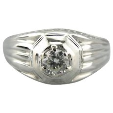 Upcycled Diamond Men's Ring