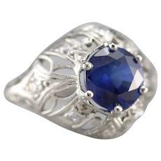 Stunning Upcycled Sapphire and Diamond Cocktail Ring
