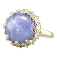 Stunning Star Sapphire Cocktail Ring