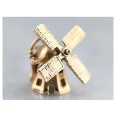 Working, Moving Windmill Charm or Pendant