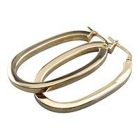 Bold Italian 14 Karat Gold Hoops Earrings