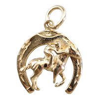 Vintage Equestrian Horse Shoe Charm