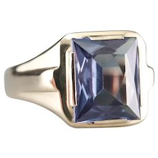 Upcycled Synthetic Alexandrite Men's Ring