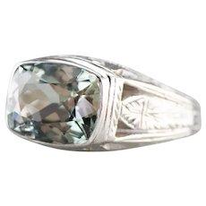 Art Deco Men's Beryl Ring