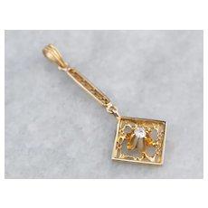 Pretty Buttercup Diamond Pendant