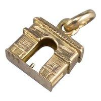 14K Miniature Arc de Triomphe Charm