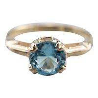 Retro Era Blue Topaz Ring