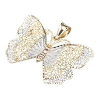 Pretty Filigree Butterfly Pendant