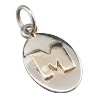 "Bold Font ""M"" Initial Pendant"