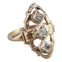Retro Diamond Dinner Ring