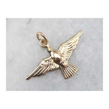 Vintage Flying Dover Charm Pendant