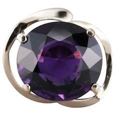 Modernist Amethyst Statement Ring