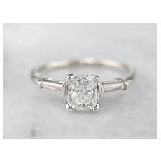 Cushion Cut Diamond Retro Era Engagement Ring
