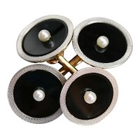 Handsome Black Onyx Cufflinks