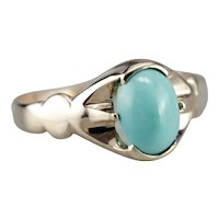 Antique Turquoise Solitaire Ring
