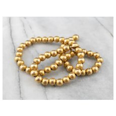 Vintage 14 Karat Gold Beaded Chocker Necklace
