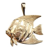 Vintage Kabana Angel Fish Pendant