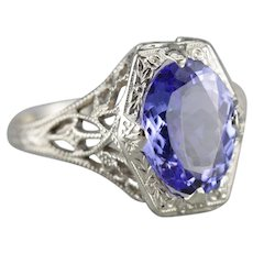Stunning Tanzanite Filigree Cocktail Ring