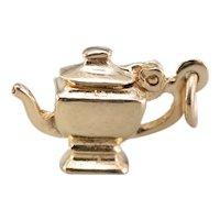 Little 14 Karat Gold Teapot Charm