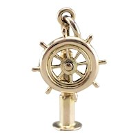 Moving Captain's Wheel Charm