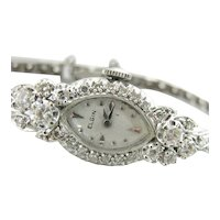 900 Platinum, Diamond and White Gold Ladies Elgin Watch