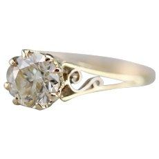 Stunning Upcycled Round Brilliant Diamond Solitaire