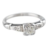 Lovely Retro Era Old Mine Cut Diamond Ring