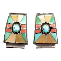 Navajo Multi Stone Inlay Watch Tips