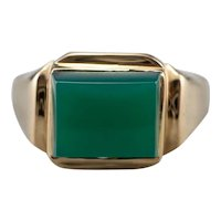 Green Onyx East to West Ring
