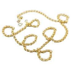 Yellow 18 Karat Gold Rolo Chain