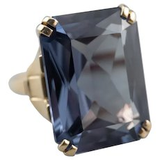 Stunning Synthetic Alexandrite Statement Ring