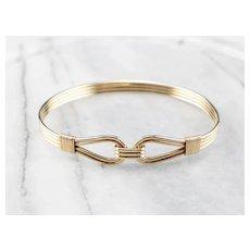 Vintage 14 Karat Gold Bangle Bracelet