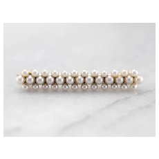 Antique Cultured Pearl Lingerie Pin