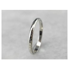 Art Deco Patterned Wedding Band