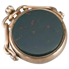 Victorian Bloodstone and Sardonyx Fob