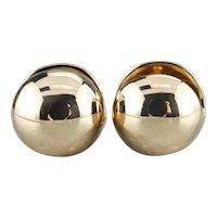 High 18 Karat Gold Huggy Hoop Earrings