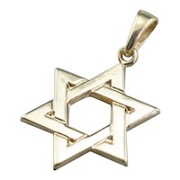 Vintage 14K Star of David Pendant