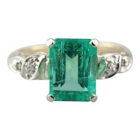 Colombian Emerald Engagement or Anniversary Ring